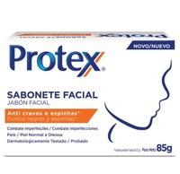 Sabonete Facial Protex Anti Cravos e Espinhas barra, 85g, 1 unidade
