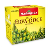 Chá Madrugada erva-doce, 6 caixas de 10 sachês cada