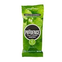 Preservativo Prudence Cores e Sabores hortelã com 6 unidades
