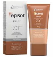 Protetor Solar Episol Color pele morena, FPS 70 com 40g