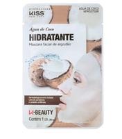 Máscara Facial de Algodão Kiss NY K-Beauty água de coco, 1 unidade
