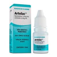 Artelac 3,2mg/mL + 0,1mg/mL, caixa com 1 frasco gotejador com 10mL de suspensão de uso oftálmico