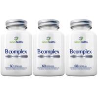 Complexo B Nature Healthy frasco, 3 unidades com 60 cápsulas cada