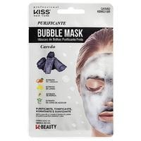 Máscara de Bolhas Facial Kiss NY K-Beauty carvão com 1 unidade