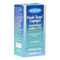 Liquigel 10mg/mL, caixa com 1 frasco gotejador com 15mL de solução de uso oftálmico