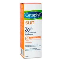 Protetor Solar Facial Cetaphil Sun Light Fluid sem cor, FPS 60 com 50mL