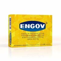 Engov 15mg + 150mg + 150mg + 50mg, caixa com 24 comprimidos