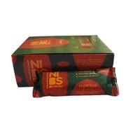 Barra de Nuts Flowbar nibs de cacau, caixa com 12 unidades de 30g cada