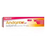Andantol 7,5mg/g, caixa contendo 1 bisnaga com 40g de gel de uso dermatológico