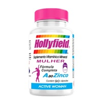 Hollyfield Active Woman 500mg, frasco com 90 cápsulas