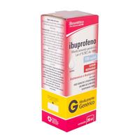 Ibuprofeno Aché 100mg/mL, caixa com 1 frasco gotejador com 20mL de suspensão de uso oral