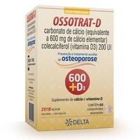 Ossotrat-D 600mg + 200UI, caixa com 60 comprimidos revestidos
