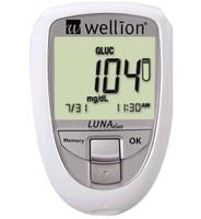 Medidor de Colesterol e Glicose Wellion Luna Duo 1 unidade, branco