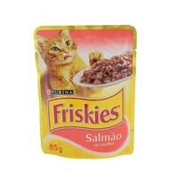 Ração para Gatos Purina Friskies sachê, salmão ao molho, 85g