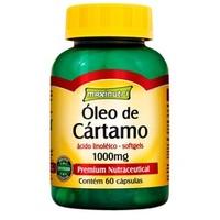 Óleo de Cártamo Maxinutri 1000mg, frasco com 60 cápsulas