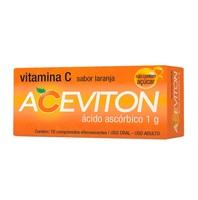 Aceviton laranja, 1g, caixa com 10 comprimidos efervescentes