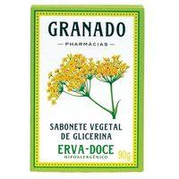 Sabonete Granado Glicerina erva-doce, barra, 1 unidade com 90g
