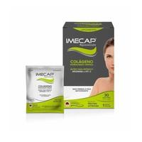 Imecap Rejuvenescedor Colágeno + Ácido Hialurônico caixa com 30 sachês com 3,5g de pó para solução de uso oral, sabor frutas cítricas