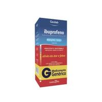 Ibuprofeno Gotas Geolab 100mg/mL, caixa com 1 frasco gotejador com 20mL de suspensão de uso oral