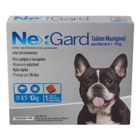 NexGard 4,1Kg a 10Kg, caixa com 1 tablete mastigável