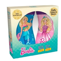 Kit Nutriex Barbie loção deo hidratante com 230mL + sabonete líquido com 250mL + cartela de adesivos, grátis