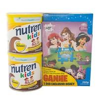 chocolate, lata, 2 unidades com 350g cada, +DVD infantil, grátis