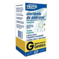 Cloridrato de Ambroxol Teuto 3 mg/mL, caixa com 1 frasco com 120mL de xarope + copo medidor