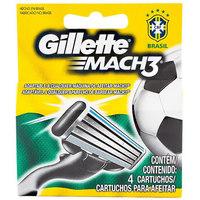 Refil Gillette Mach3 Seleção - Com  4 Unidades