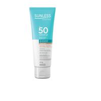 Protetor Solar Facial Sunless Toque Seco FPS 50, bege médio, 60g