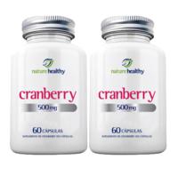 Cranberry Nature Healthy 500mg, frasco, 2 unidades com 60 cápsulas cada