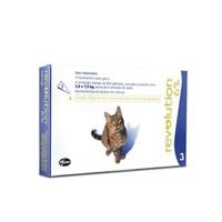 Antipulgas para Cães e Gatos Revolution 6% de 2,6Kg a 7,5Kg com 3 pepitas de 0,75mL