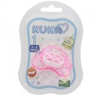 Chupeta Kuka Color 0 a 6 meses, decorada, rosa