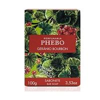 Sabonete Perfumaria Phebo gerânio bourbon, barra, 1 unidade com 100g