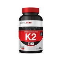 Vitamina K2 ClinicMais 500mg, frasco com 30 cápsulas