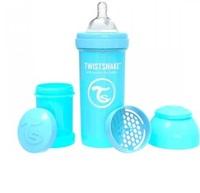 Kit Mamadeira Anticólica Twistshake 2+ meses, 260mL, 3 itens, azul