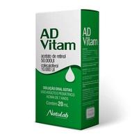 Ad-Vitam 50.000UI + 10.000UI, frasco gotejador com 20mL de solução de uso oral