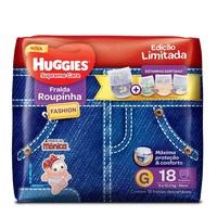 Fralda Roupinha Huggies Supreme Care estampas sortidas, G, 18 unidades