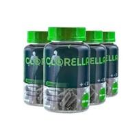 Clorella Eleve 530mg, 4 frascos com 60 cápsulas cada
