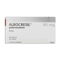 Albocresil Óvulo 90mg/g, caixa com 6 óvulos ginecológico