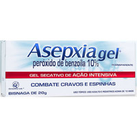 Asepxia Gel Secativo 100mg/g, bisnaga com 20g de gel de uso dermatológico