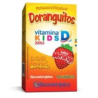 Doranguitos 200UI, caixa com 120 comprimidos mastigáveis sabor morango