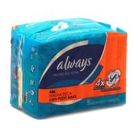 Absorvente Always Maxi Proteção seca, com abas, 8 unidades