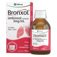 Bronxol 360mg, caixa com 1 frasco com 120mL de xarope infantil + copo medidor