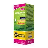 Simeticona Gotas Biosintética 75mg/mL, caixa com 1 frasco gotejador com 10mL de emulsão oral