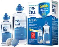 Kit para Limpeza de Lente de Contato Renu Advanced frasco com 335mL + frasco com 120mL + estojo para lentes, grátis