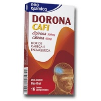 Dorona Cafi 500mg + 65mg, caixa com 16 comprimidos