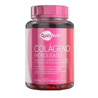 Colágeno Hidrolisado QualyNutri frasco com 120 cápsulas