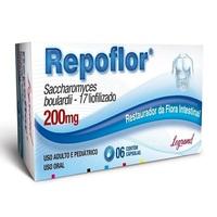 Repoflor 200mg, caixa com 6 cápsulas gelatinosas duras