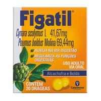 Figatil 41,67mg + 69,44mg, caixa com 20 drágeas