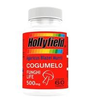 Cogumelo Hollyfield 500mg, 3 frascos com 60 cápsulas cada
